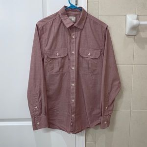 Salmon Color Long Sleeve Button Up.